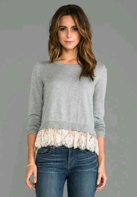Sweter con encaje