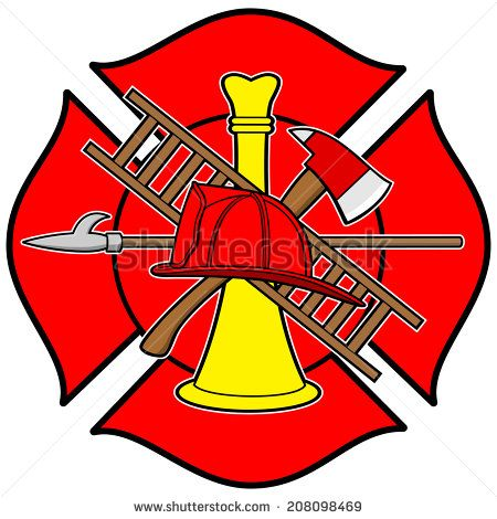 Fire Department Or Firefighters Maltese Cross Symbol Stock Vectors Vector Clip Art Cross Symbol Maltese Cross Vector Pattern