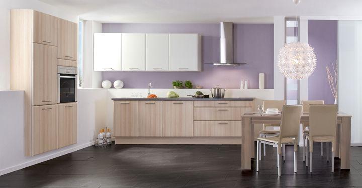cocinas modernas madera y blanco - Buscar con Google Decoracion
