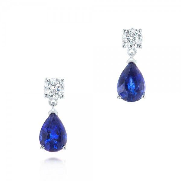 Blue Sapphire And Diamond Earrings 103430 Seattle Bellevue Joseph Jewelry Sapphire And Diamond Earrings Diamond Earrings Studs Jewelry