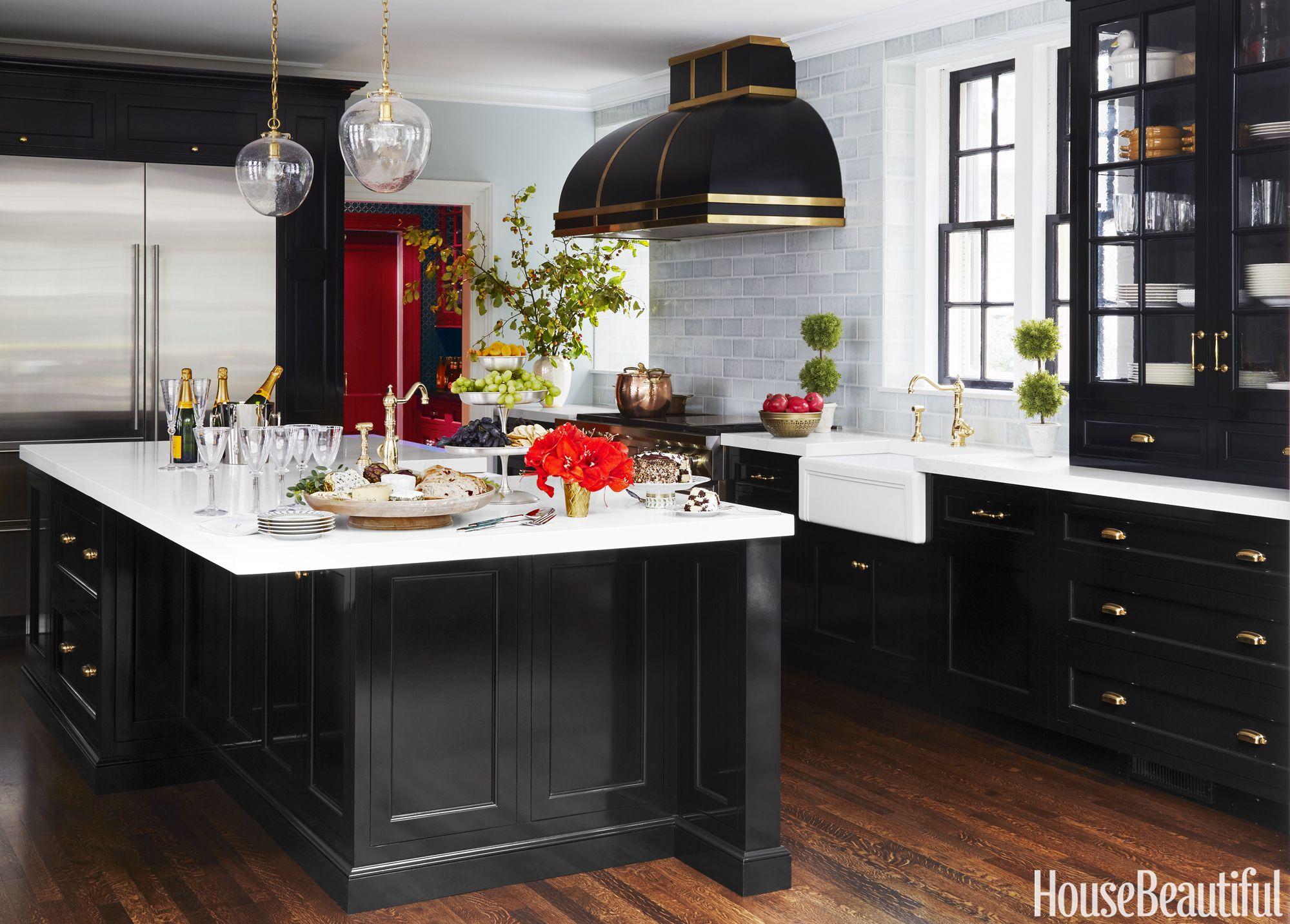Tour A Sleek Black Kitchen Where Old And New Meet In The Middle Black Kitchens Black Kitchen Cabinets Modern Kitchen Design