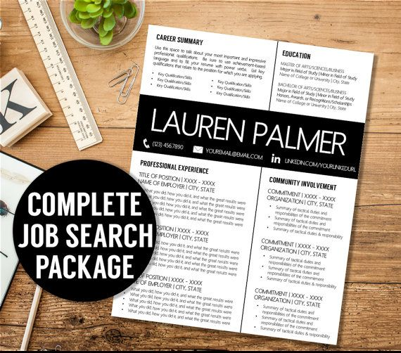 Resume + Cover Letter + Thank You Letter + Reference Page + Free - resume and cover letter writers