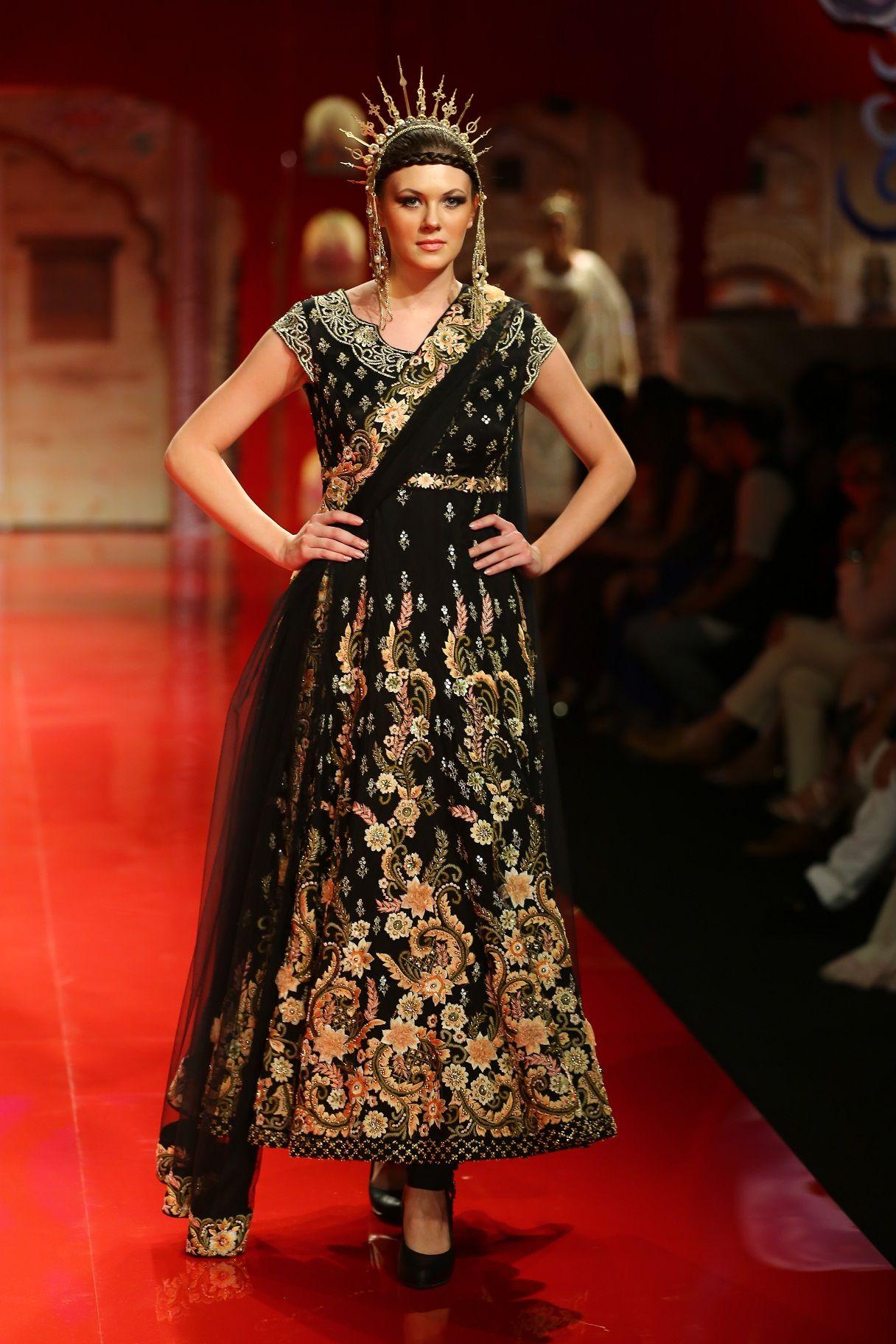 Indian fashion suneet varma bmw india bridal fashion week