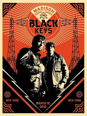 Second Shepard Fairy Black Keys poster at Madison Square Garden