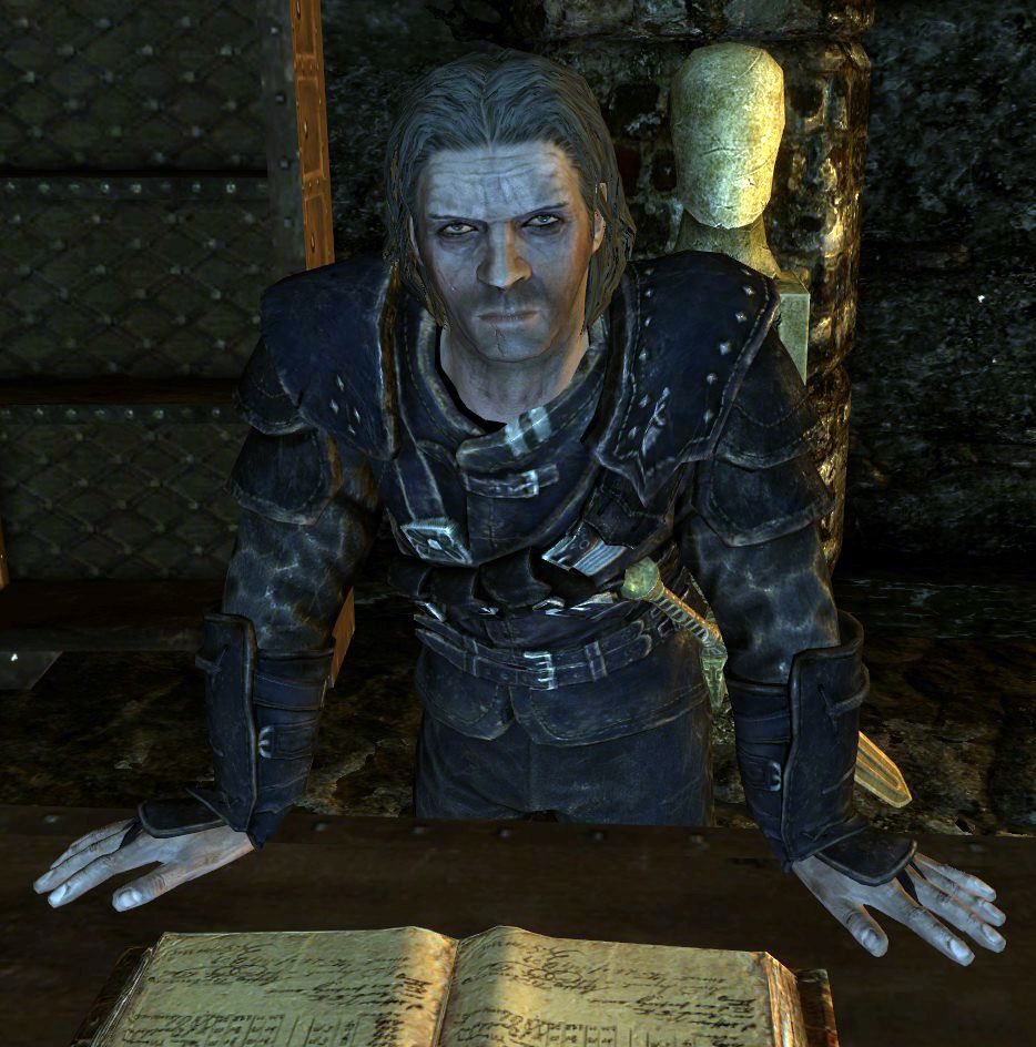 Mercer Frey (Skyrim) - Thieves Guild Master and all around b