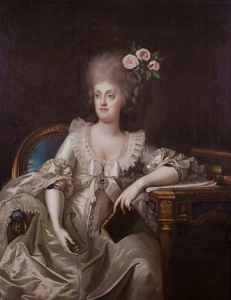 Portrait de Marie-Caroline d'Autriche, reine de Naples et de ...