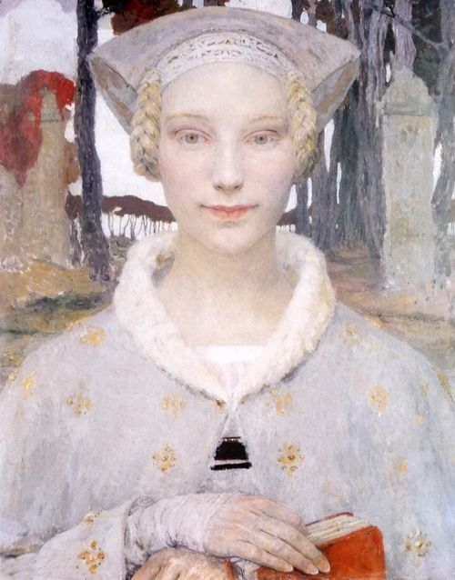 Edgard Maxence 17 Septembrie 1871 1954 Pictor Francez Simbolist Art Portrait Art Painting