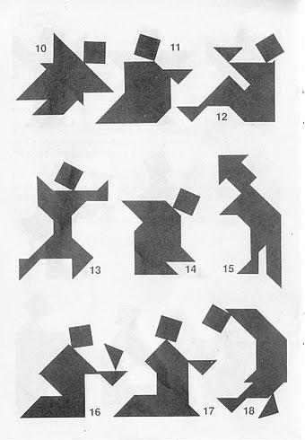 Figuras del Tangram con soluciones 2