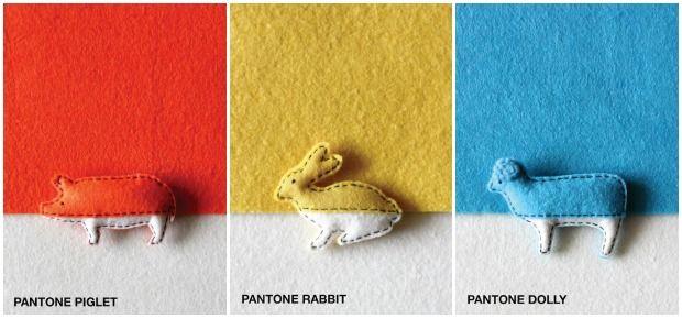 Pantone Animals con fieltro de colores