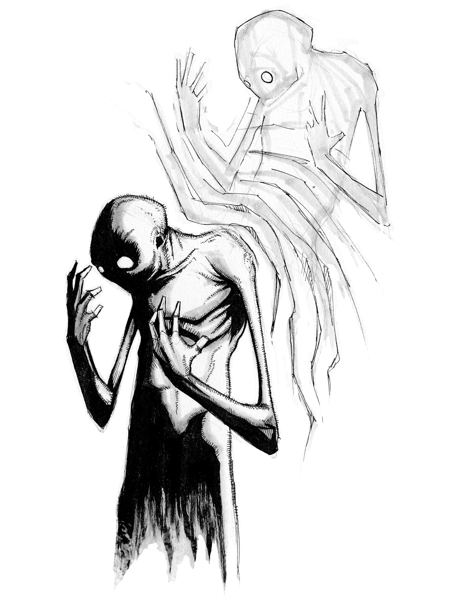 Depersonalization Disorder Png Emotional Art Dark Art Illustrations Art