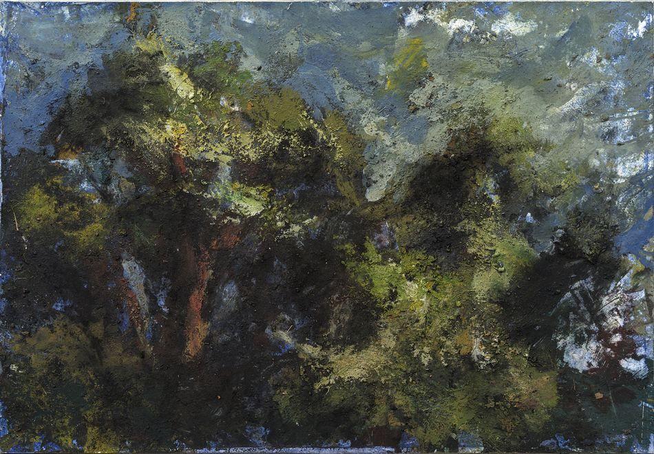 Le chêne d'Hollan II par Vincent Bebert, Elève d'Alexandre Hollan  (Tempera sur papier marouflé 38x55cm)