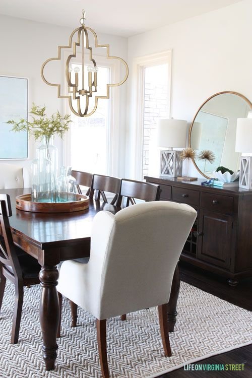 Quatrefoil Br Chandelier Dining Room Table Centerpieces And Chairs