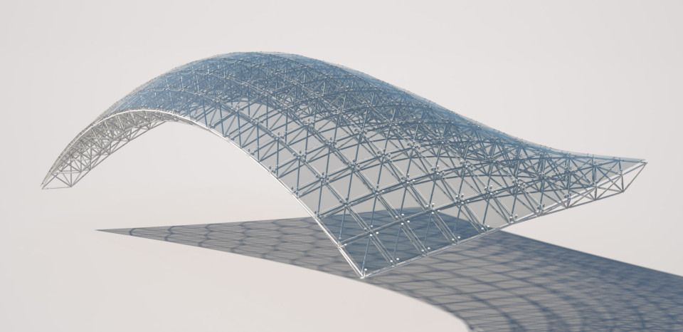 Fully Detailed Canopy With Grasshopper Architecture