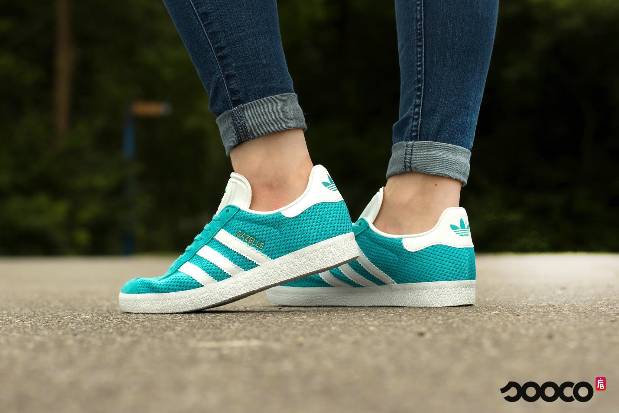 adidas gazelle dames blauw