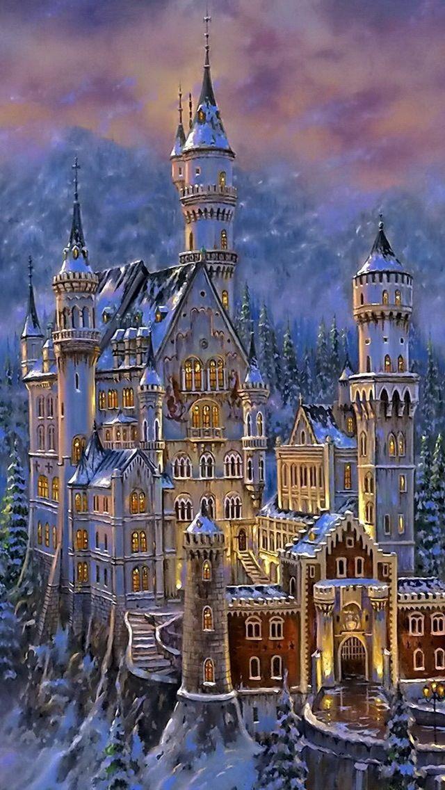 Neuschwanstein Castle Fantasy Castle Castle Art Beautiful Castles