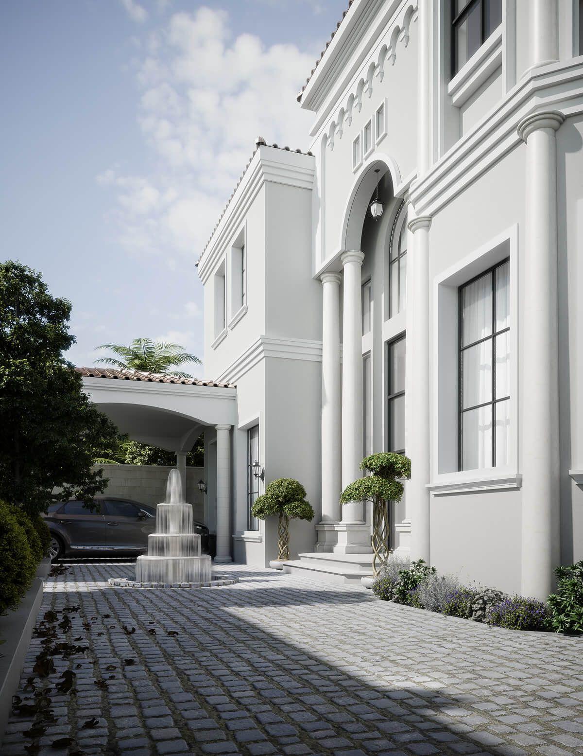 Mediterranean Arabic House Design Home Exterior In Riyadh Saudi Arabia Cas House Outside Design Classic House Exterior Double House