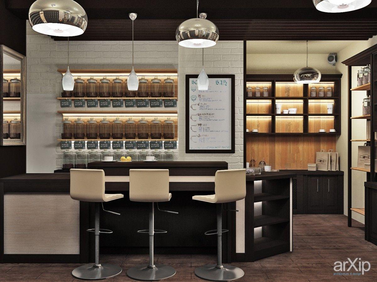 """Фото Интерьер магазина Чая и Кофе """"География вкуса"""" - интерьеры, магазин, супермаркет, современный, модернизм, 30 - 50 м2, торговый зал, средний"""