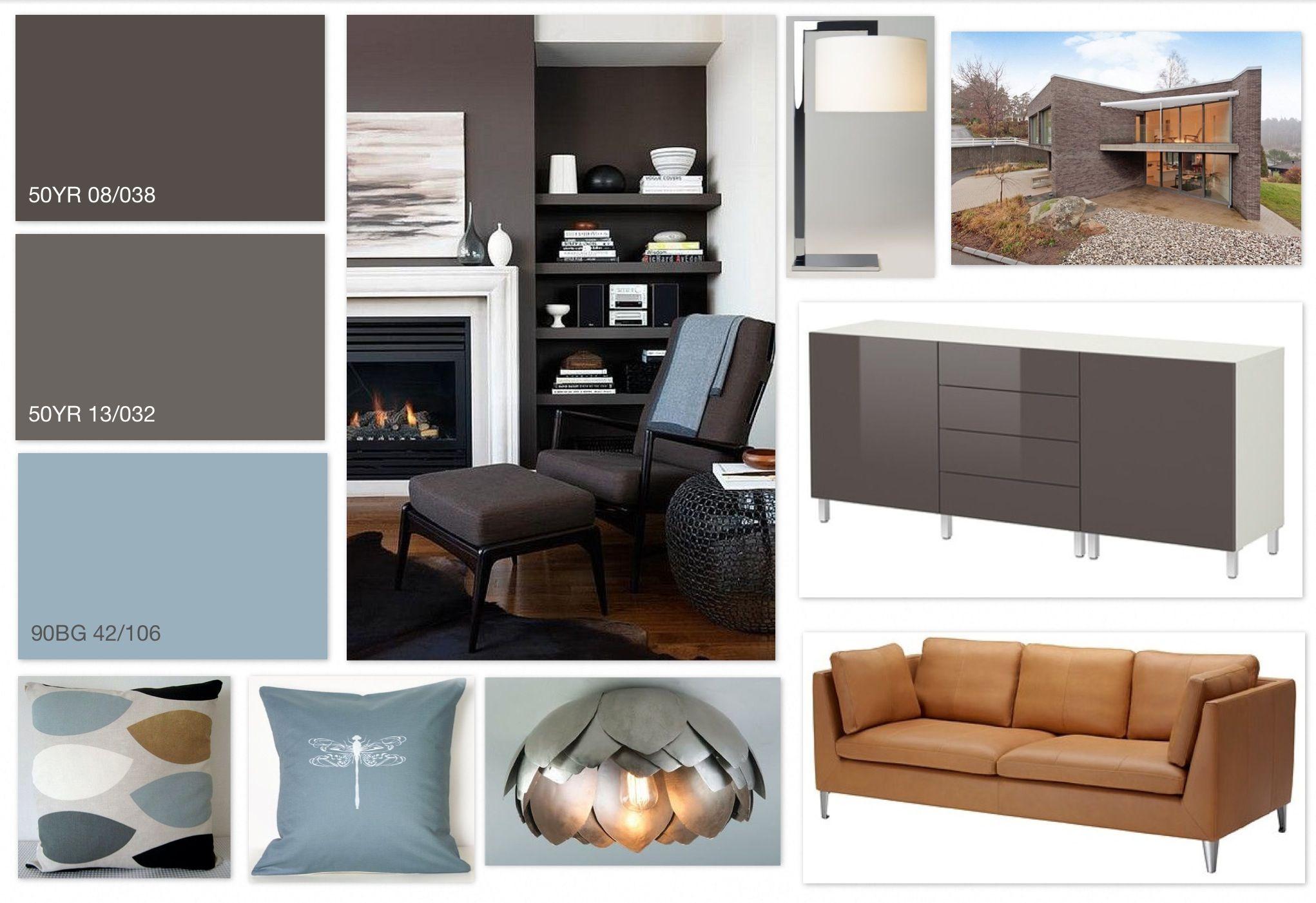 Grey Steel Blue Tan Contemporary Design Scheme Using Dulux Colours