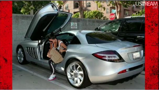 Kim Kardashian Stepping Out Out Of Kanye West S 500 000 Car Celebrity Cars Kardashian Cars Car