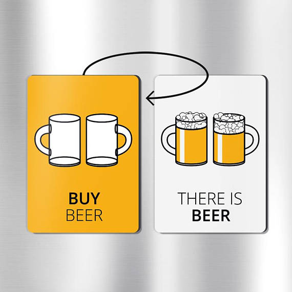 beer gift ideas beer gift dad chore magnets beer gifts beer gifts unique Reversible beer magnet: beer lovers gifts beer gifts for men