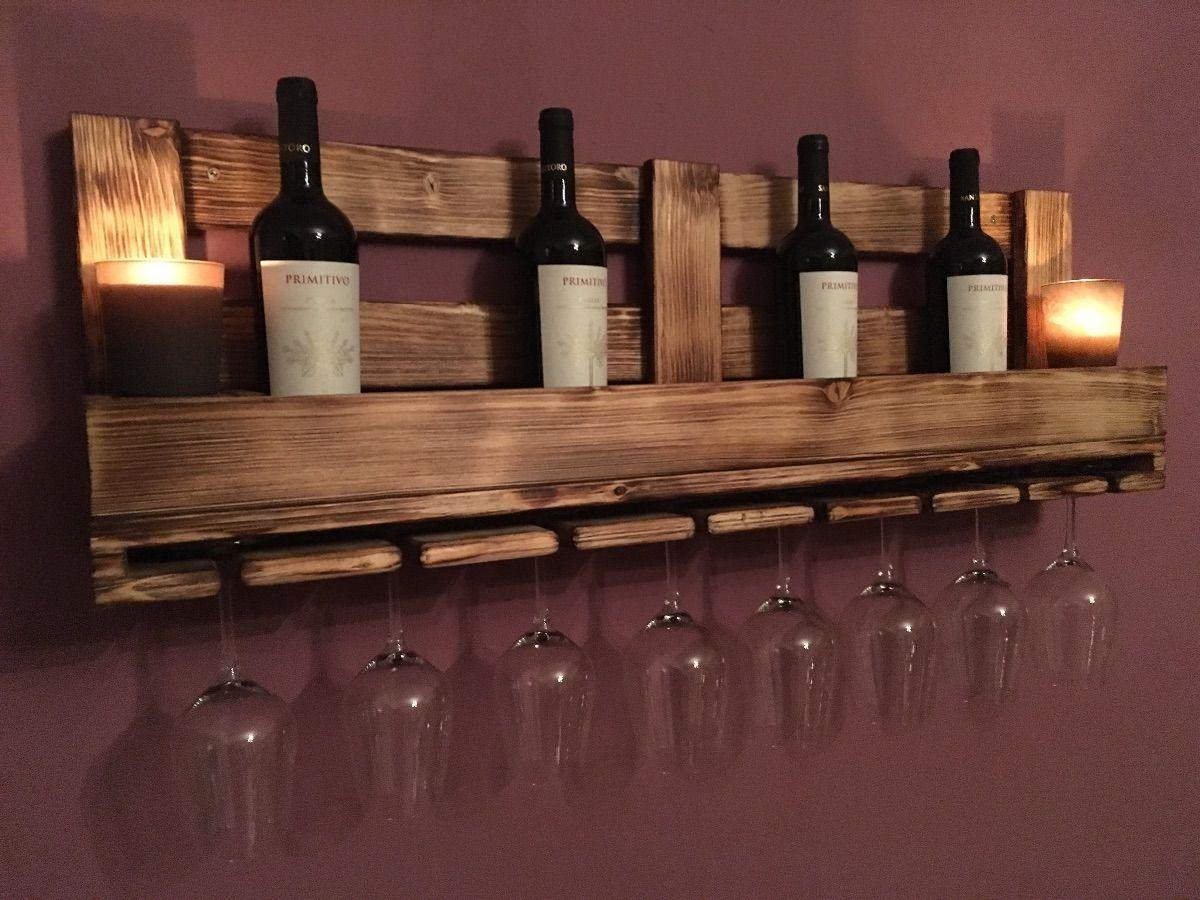 Weinglasregal / weinregal keine Palette - Heimwerker-Helden.de #palettenideen