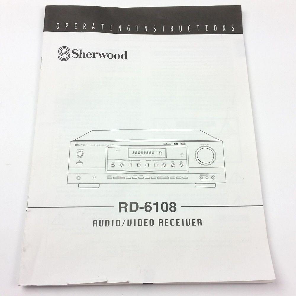 sherwood rd 6108 receiver owners instruction manual original book rh pinterest com