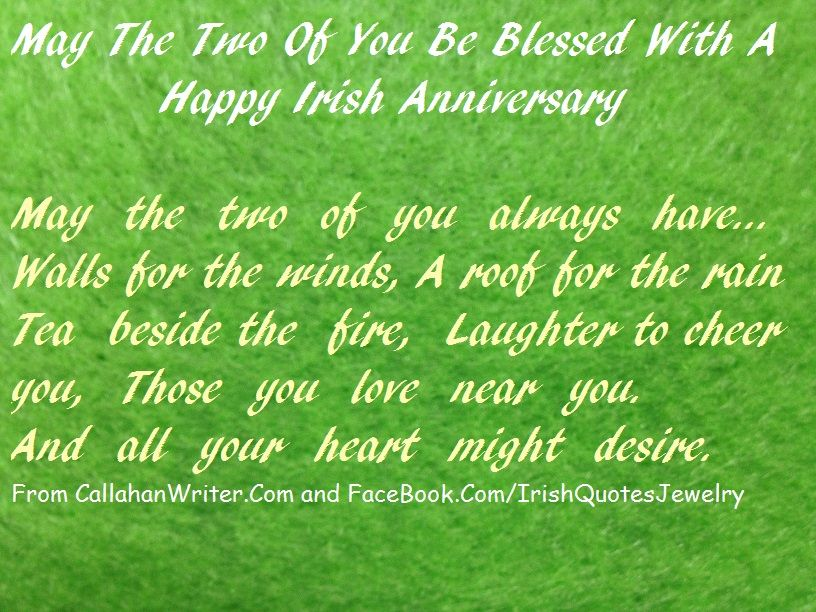 Irish Quotes Awesome Irish Anniversary Quote Part Of The Biggest Collection Of Irish