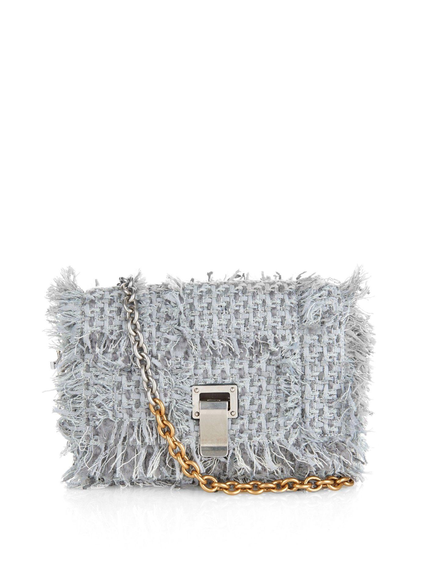 XS Courier tweed shoulder bag   Proenza Schouler