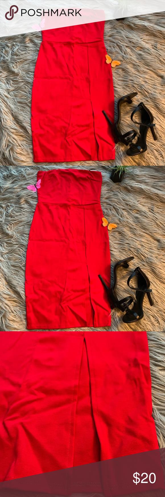 891c9bcf786 Fashion Nova Brady Tube dress M Fashion Nova Brady red strapless dress size  medium. Strapless