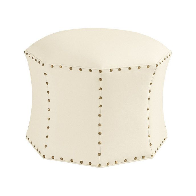 Groovy Keelie Octagon Ottoman Ballard Designs Mitchell Foyer Machost Co Dining Chair Design Ideas Machostcouk