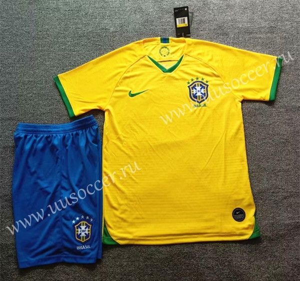 cb439d34f6a 2019-2020 Brazil Home Yellow Soccer Uniform