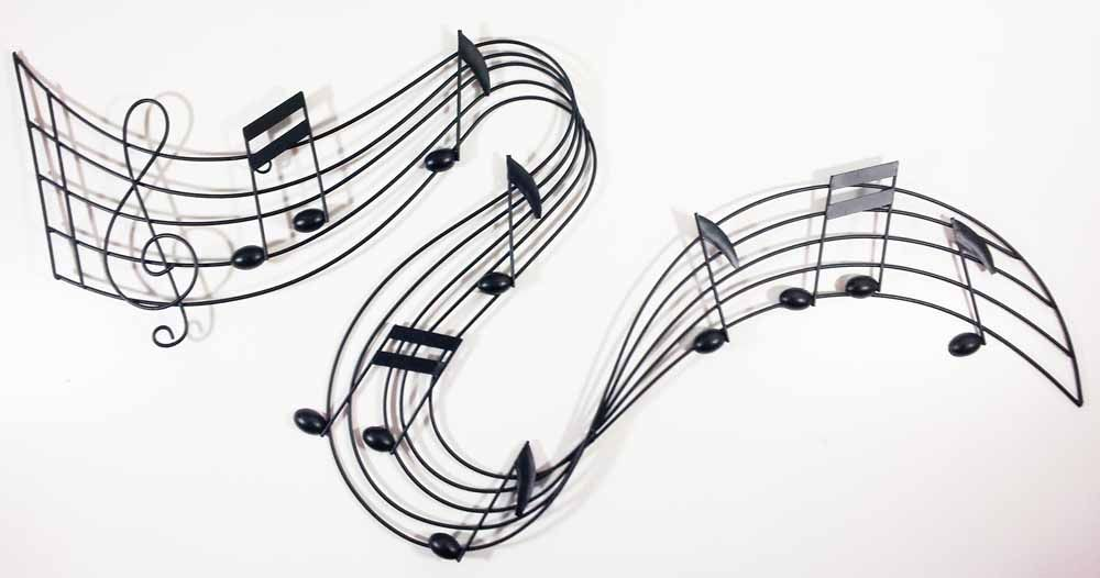 Metal wall art decor musical