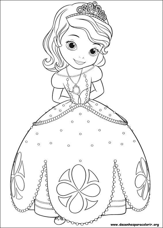 Desenho Para Imprimir Princesas Colorear Pinterest