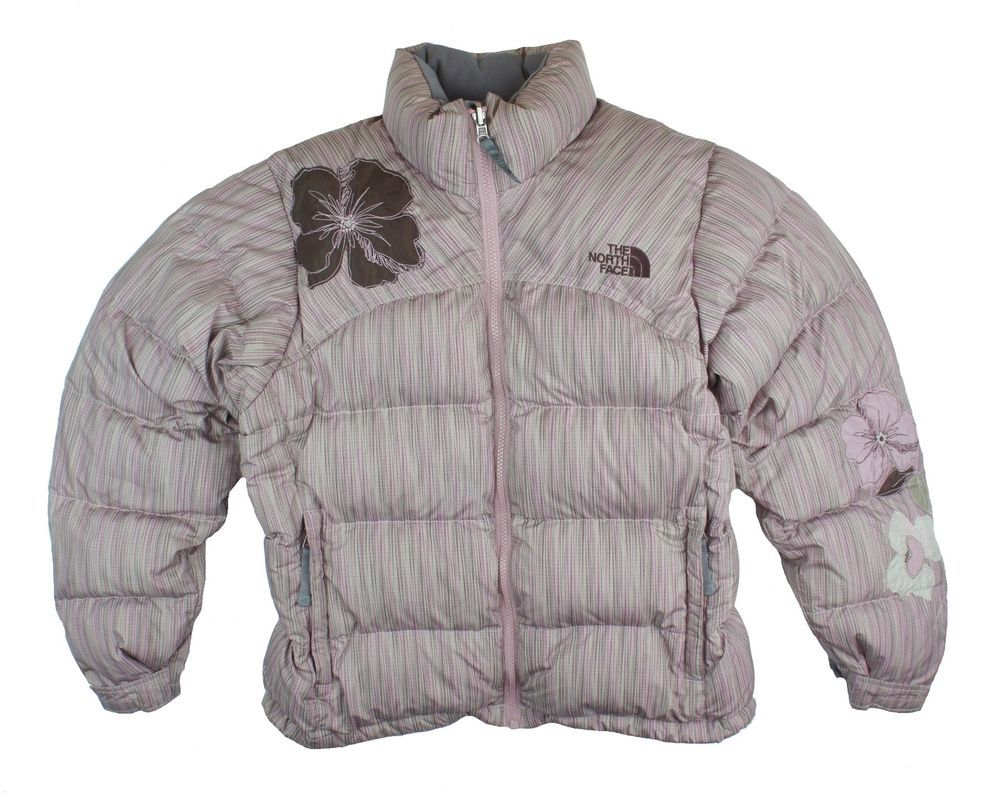 321a1af43e THE NORTH FACE Size S Special Edition 700 Pink Stripe Floral Down Puffer  Jacket  TheNorthFace  BasicJacket