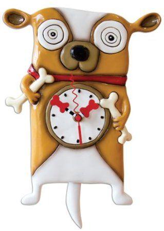 Funky Dog Wall Clocks Clocks Pinterest Clock Wall