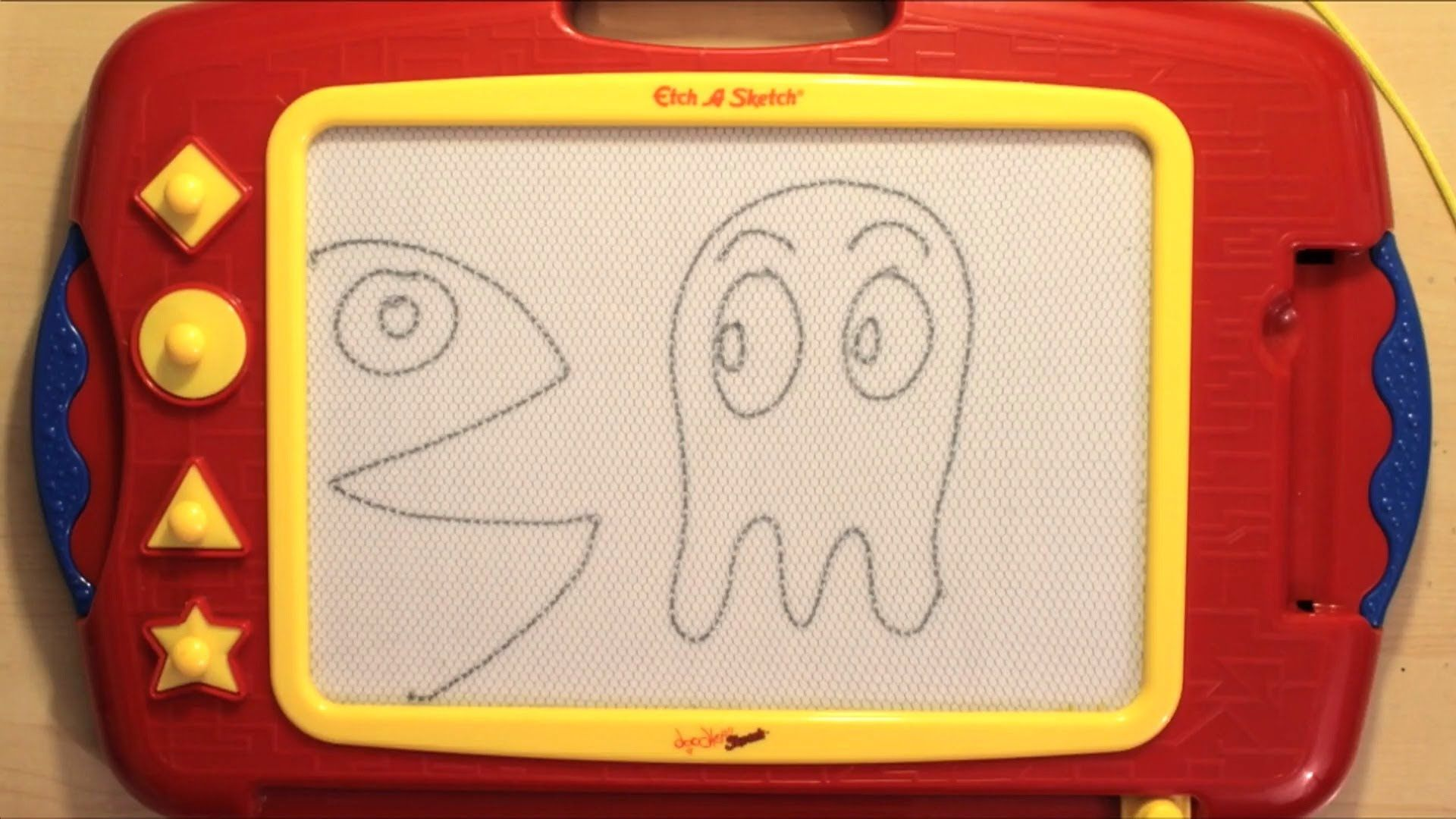 Fun with etch a sketch doodle sketch animation and
