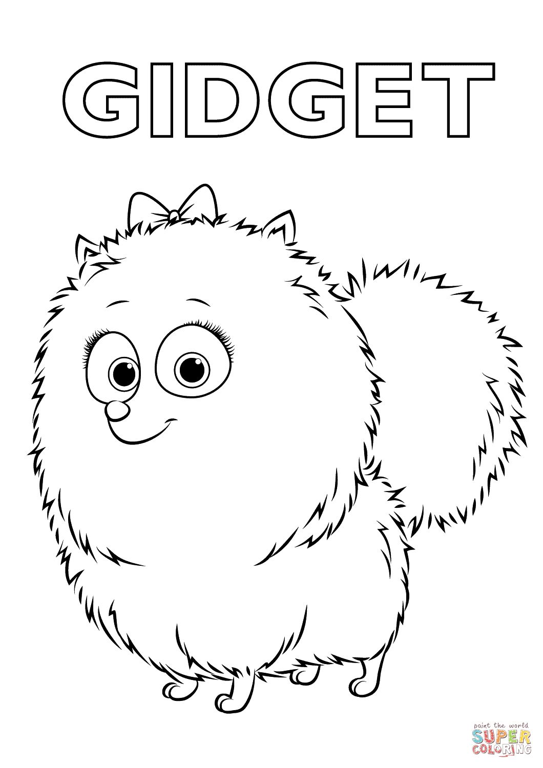 Pet Coloring Pages Gidget From The Secret Life Of Pets Coloring