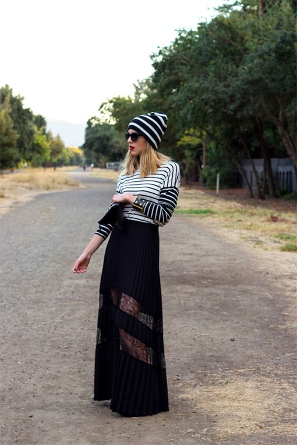 Stripes on Stripes – Bring skirts out of the closet for springtime!