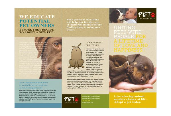 dog adoption flyer template - animal shelter pet adoption print template pack