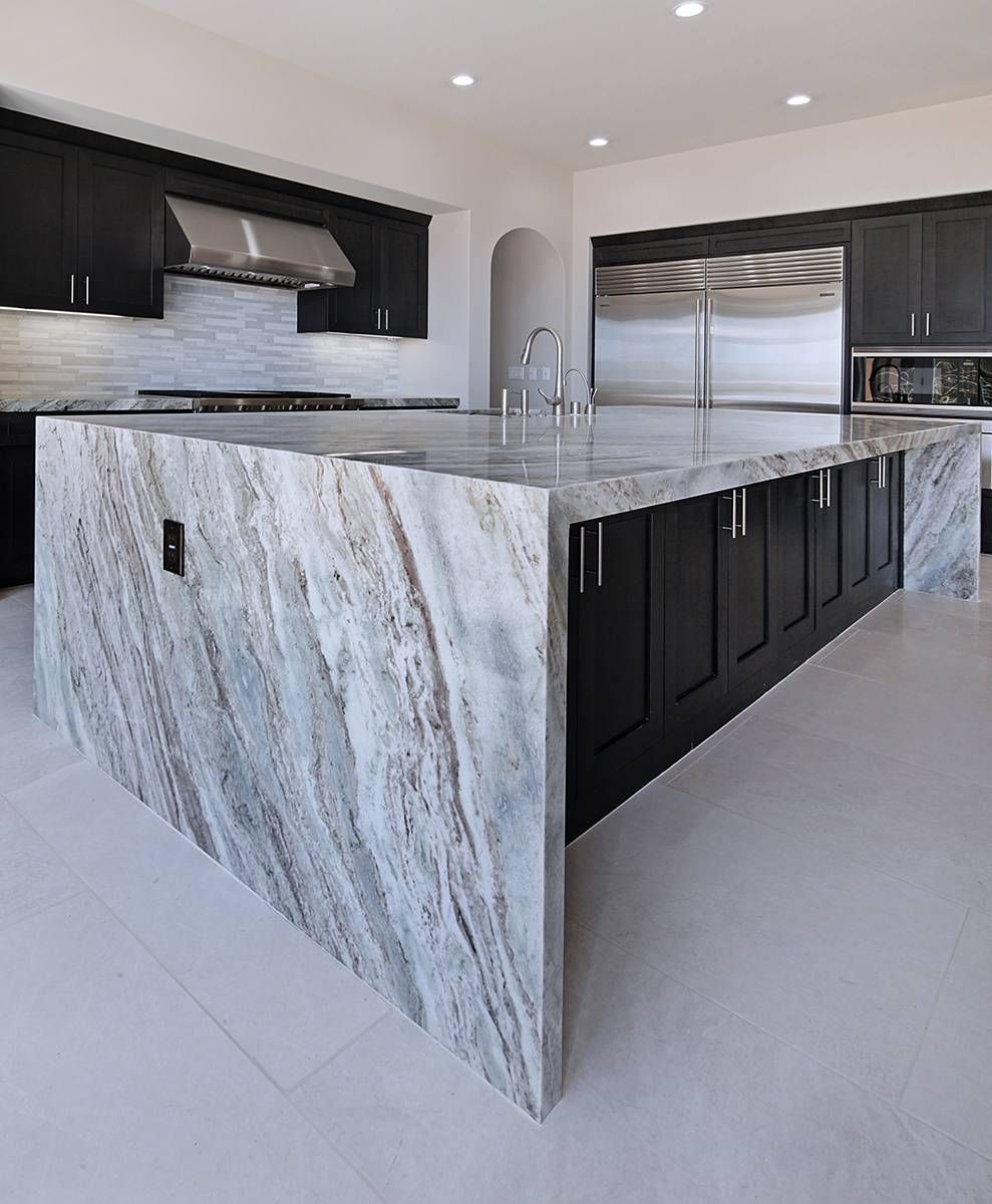 Blocks Of Pale Fawn And Veins Of Taupe Accent The Eggshell Primary Hue Of Our Vanilla White Marble Tile Kitchen Marble Marble Countertops Kitchen Fantasy Brown