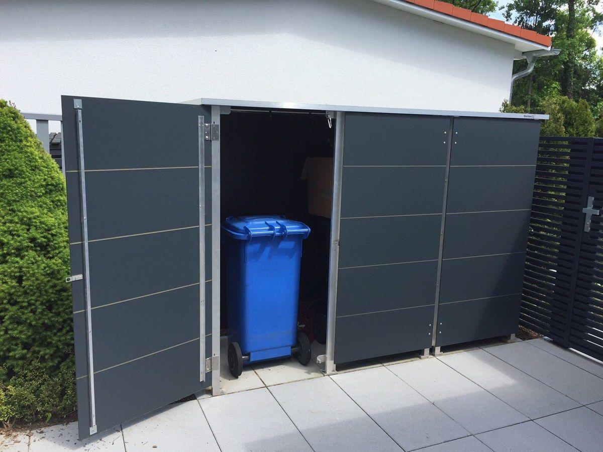 Müllboxen anthrazit modern und wetterfest