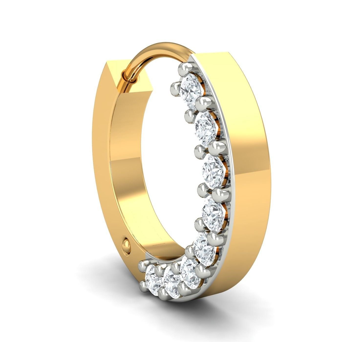 Shop line For Diamond Nose Ring With Diamonds The Side 18K