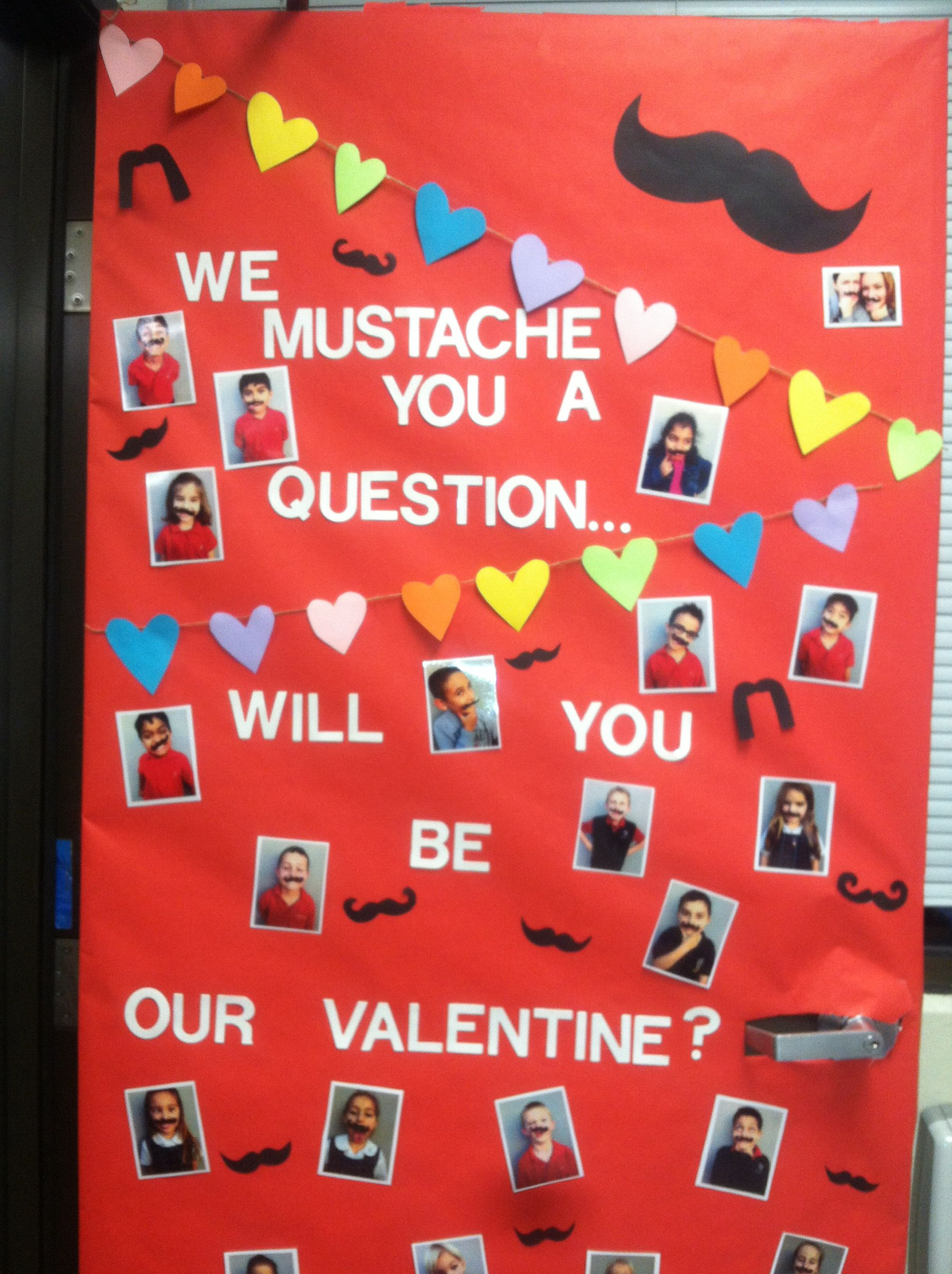 Valentines day door. Hate the mustache but love the ...
