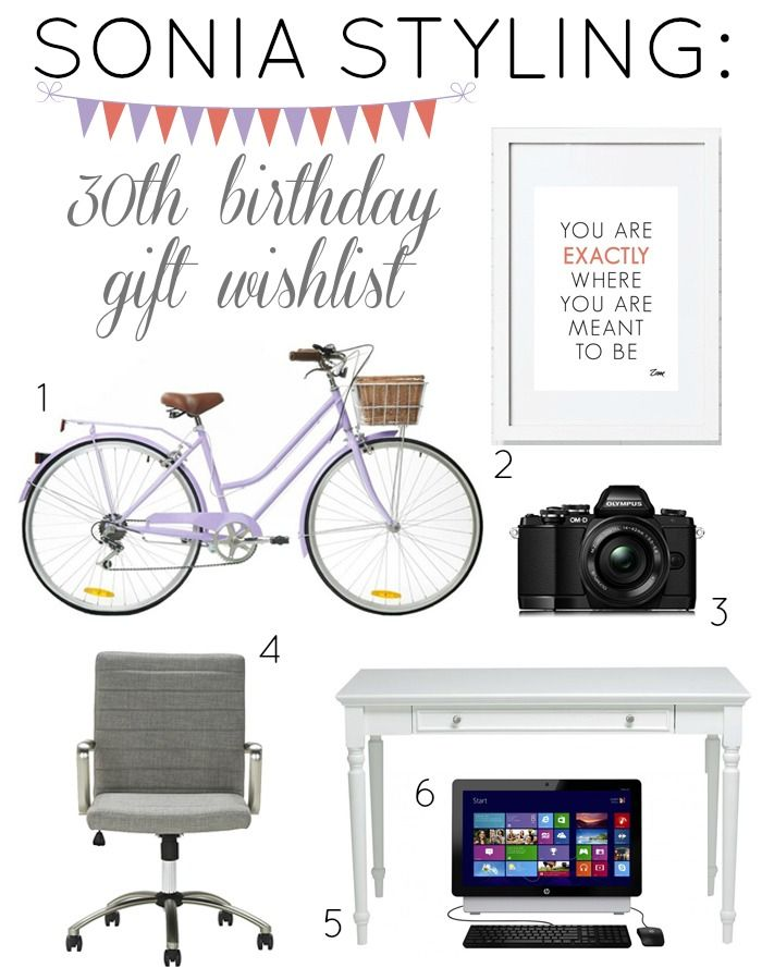 Sonia Styling 30th Birthday Gift Wish List