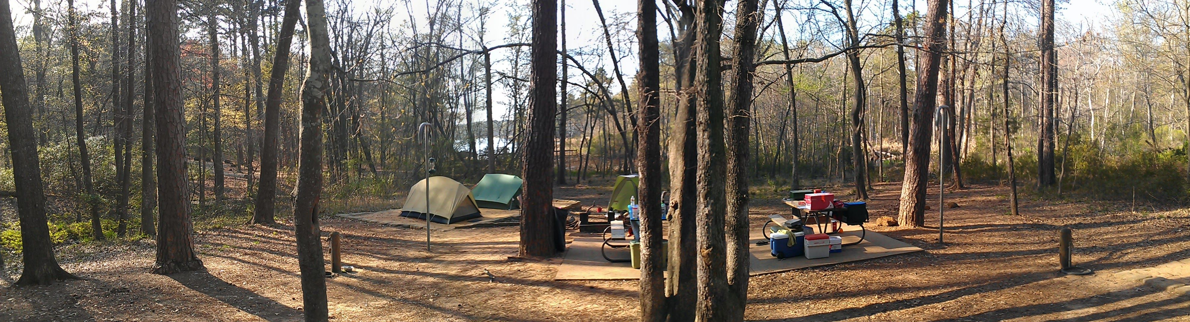 A panoramic of my site #camping #hiking #outdoors #tent # ...