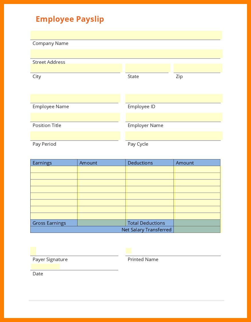 8+ Free Payslip Template Download ShrewdInvestment