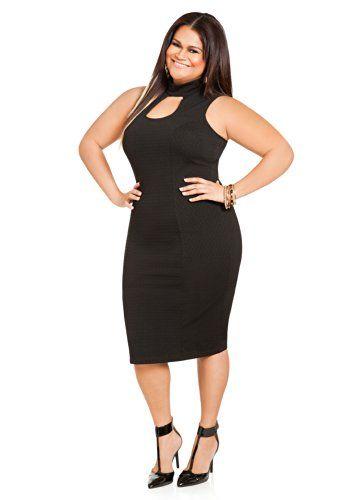 Fashion Bug Womens Plus Size Textured Peekaboo Middy Dress  www.fashionbug.us  curvy  plussize  FashionBug 82478de25e