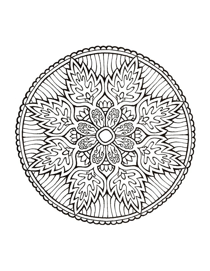Mandala - Kind of like a snowflake | Coloring | Mandala ...