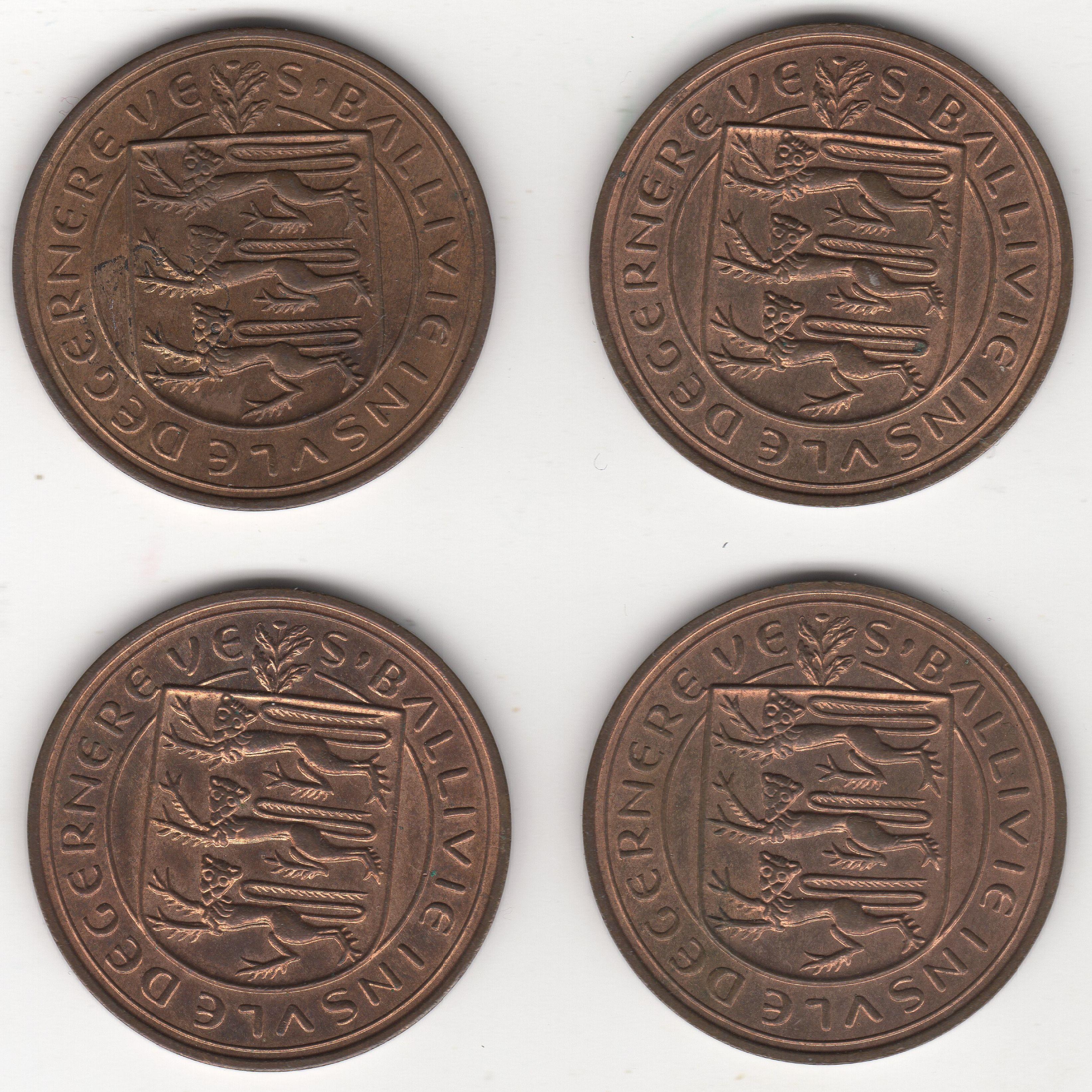 1959 Guernsey 8 Doubles Coins Bulk Coins Pennies2pounds