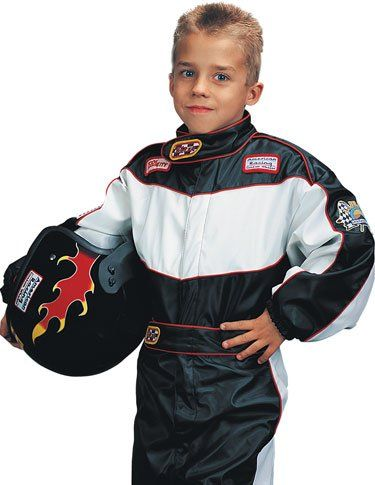 Medium Child S Deluxe Race Car Driver Costume For Ages 7 8 Race Car Driver Costume Kids Races Race Car Costume